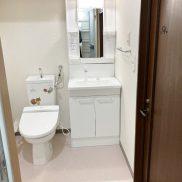 洗面所内(トイレ:シャワートイレ+シャワー付洗面化粧台)