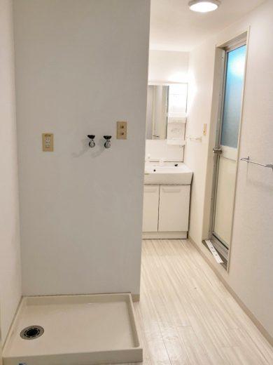 洗面所+洗濯機置場