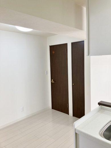 左奥扉:トイレ、右奥扉:パイプシャフト