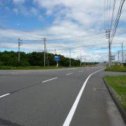 国道(現地曲がり角位置)
